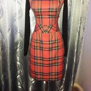 Платье из натуральной шерсти и трикотажа. Торг.