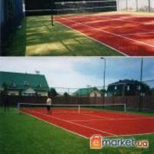 Строительство крытых и открытых теннисных кортов.