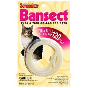 Sergeants БАНСЕКТ (Bansect) ошейник от блох для кошек, и собак.