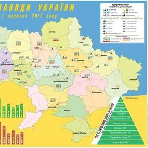 Карта сахарных заводов Украины