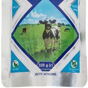 Молоко цельное сгущенное с сахаром жирностью 8,  5% дой пак 0,  320 кг,  экспорт
