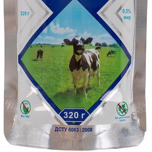 Молоко обезжиренное сгущенное с сахаром 0,  5% жирности дой пак 0,  320 кг,  экспорт