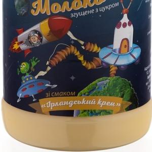 Молоко сгущенное с маслом и сахаром со вкусом ИРЛАНДСКИЙ КРЕМ пэт/бут 370 гр.экспорт