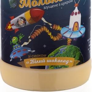 Молоко сгущенное с маслом и сахаром со вкусом БЕЛЫЙ ШОКОЛАД пэт / бут 370 гр.экспорт