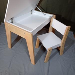 Детский стол с нишей  и стул скандик