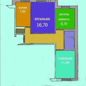 3 кімнатна квартира за ціною 2-х кімнатної