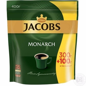 Вкуснейший кофе Jacobs Monarch 400 грамм