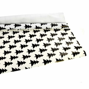 Упаковочная бумага (0, 7*5 м),   белый-черный